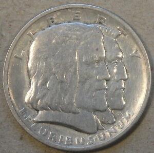 1936 LONG ISLAND COMMEMORATIVE HALF DOLLAR 50C LIGHTLY CIRCULATED AS PICTURED