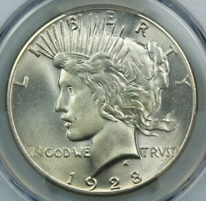 KEY DATE PCGS MS64 1928 SILVER PEACE DOLLAR $1    BC57