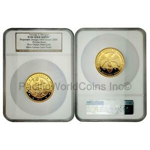 Click now to see the BUY IT NOW Price! USA 2005 GEORGE. T MORGAN UNION $100 5 OZ GOLD NGC ULTRA CAMEO GEM PROOF S7713