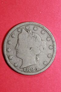 1883 LIBERTY V NICKEL NO CENTS EXACT COIN SHOWN FLAT RATE SHIPPING OCE 103