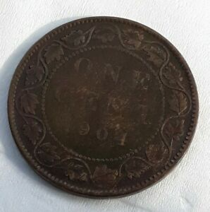 LARGE  CENTS 1904 CANAD