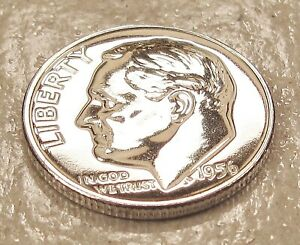 1956  GEM  PROOF   DIME  90   SILVER >BLAZING  MIRRORED  SURFACES <  223  34