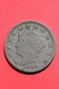 1883 LIBERTY V NICKEL NO CENTS EXACT COIN SHOWN FLAT RATE SHIPPING OCE 302