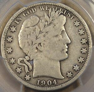 1904 S BARBER HALF DOLLAR 50C PCGS CERTIFIED F15 SLAB ERROR LABELED AS  PHIL