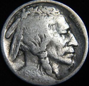 1919 S BUFFALO NICKEL 5 TOUGHER EARLY RESTORED DATE FU45IP