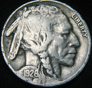 ORIGINAL 1926 P BUFFALO NICKEL 5  FX27MX