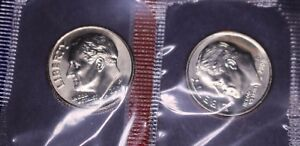 2000 D & P ROOSEVELT DIME 10C FROM US MINT COIN SET CHOICE BU 2 COINS