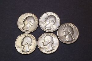 WASHINGTON QUARTER SET 1974 1974 D 1977 1978 1979 5 COINS CLAD