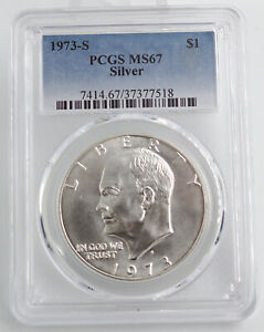 1973 S SILVER UNCIRCULATED EISENHOWER DOLLAR PCGS MS67 7518