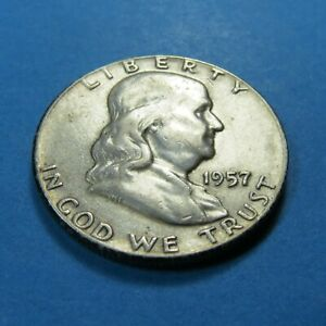 1957  FRANKLIN HALF DOLLAR  FOR COLLECTION OR SET   COMBINED SHIPPING   LOT 1266
