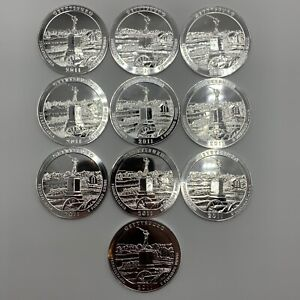 Click now to see the BUY IT NOW Price! 10 PIECE 2011 GETTYSBURG 5 OZ .999 SILVER