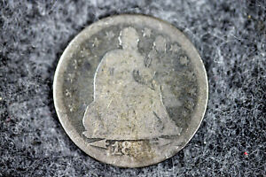 ESTATE FIND 1853 W/ARROWS  SEATED LIBERTY DIME  D25508