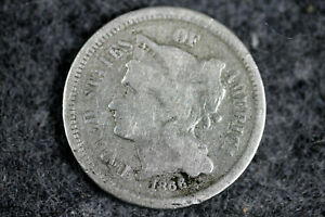 ESTATE  FIND 1866 THREE CENT NICKEL  D25274