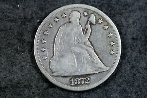 ESTATE  FIND 1872   SEATED LIBERTY DOLLAR  D21478