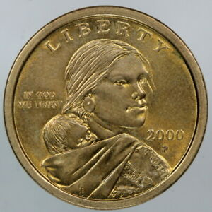 ABOUT UNCIRCULATED 2000 P WOUNDED EAGLE SACAGAWEA DOLLAR MINT ERROR FS 901 AU
