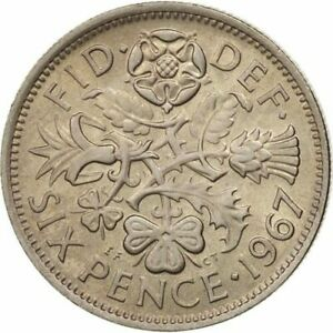 SIXPENCE CHOOSE YOUR DATE 1947 1967 KING GEORGE VI DATES BIRTHDAY COIN ELIZABETH