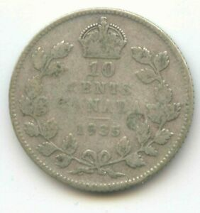 CANADA 1935 SILVER DIME CANADIAN 10 CENT PIECE 10C 10 C EXACT COIN SHOWN