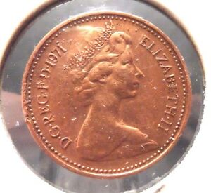CIRCULATED 1971 1 NEW PENNY UK COIN