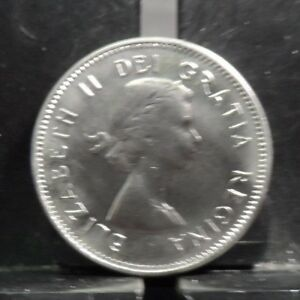 CIRCULATED 1964 5 CENT CANADIAN COIN 10419 R1 ..FREE DOMESTIC SHIPPING