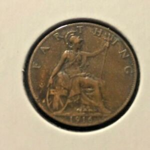 GREAT BRITAIN 1916 ONE FARTHING COIN