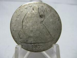 1875 P SEATED LIBERTY HALF DOLLAR NO ARROWS   COIN   NFM231