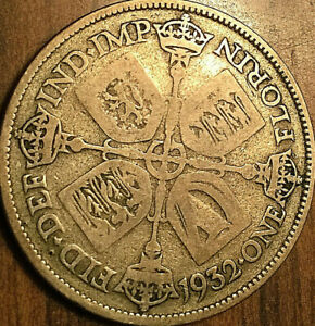 1932 GREAT BRITAIN GEORGE V SILVER FLORIN COIN