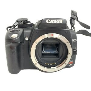 CANON EOS REBEL XT DIGITAL CAMERA DSLR 8MP BODY ONLY TESTED WORKING NO BATTERY