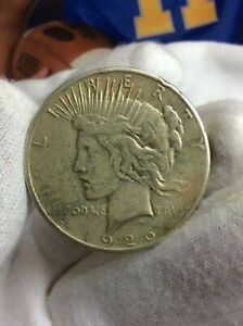 1926 S PEACE SILVER ONE DOLLAR US $1 COIN