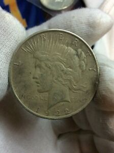 1922 D PEACE ONE DOLLAR $1 US 90  SILVER COIN