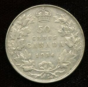 1934 CANADA FIFTY CENTS
