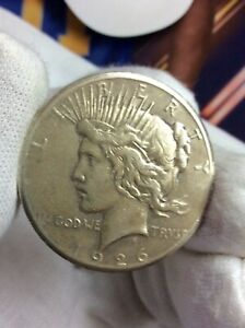 1926 P PEACE SILVER ONE DOLLAR US $1 COIN LOWBALL?