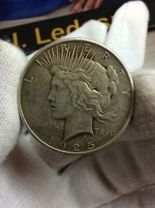 1925 P PEACE SILVER US ONE DOLLAR $1 COIN