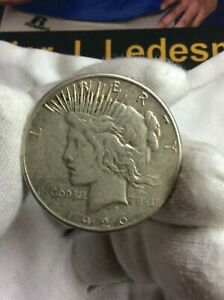 1926 S PEACE SILVER ONE DOLLAR $1 US 90  SILVER COIN