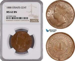 Click now to see the BUY IT NOW Price! AE904 STRAITS SETTLEMENTS VICTORIA 1 CENT 1888 NGC MS62BN