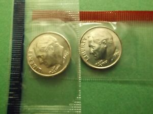 1995 P ROOSEVELT DIME FROM MINT SET IN CELLO NOT ROLL  I-25-18