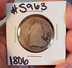 1806 DRAPED BUST QUARTER DOLLAR    GOOD TYPE COIN