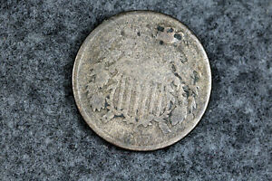 ESTATE FIND 1867 TWO  CENT PIECE HOLED  D27630