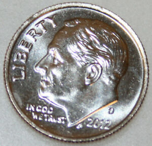 2012 D ROOSEVELT DIME UNCIRCULATED BU NICE NO PROBLEM COIN