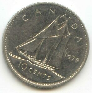 CANADA 1979 DIME CANADIAN 10 CENT PIECE 10C  EXACT  COIN