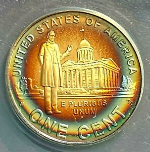 2009 S LINCOLN 1C PROOF PROFESSIONAL YEARS ANACS PF69 DCAM PHENOMENAL TONING CHN