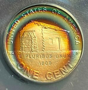 Click now to see the BUY IT NOW Price! 2009 S LINCOLN 1C PROOF LOG CABIN ANACS PF69 DCAM PHENOMENAL TONING CHN