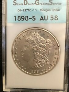 1898 S MORGAN SILVER DOLLAR BEAUTIFUL HIGH GRADE AU COIN  DATE