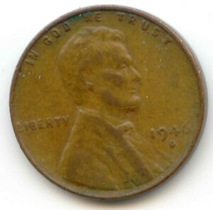 USA 1946D ONE CENT AMERICAN PENNY   1946 D 1C EXACT COIN SHOWN