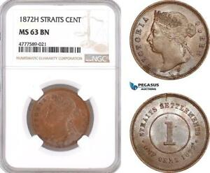 Click now to see the BUY IT NOW Price! AF148 STRAITS SETTLEMENTS VICTORIA 1 CENT 1872 H HEATON NGC MS63BN
