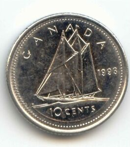 CANADA 1993 DIME CANADIAN 10 CENT PIECES 10C 10 C EXACT COIN SHOWN