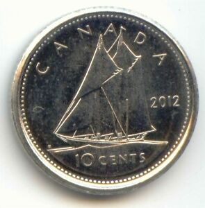 CANADA 2012 DIME CANADIAN 10 CENT PIECE 10C EXACT COIN SHOWN