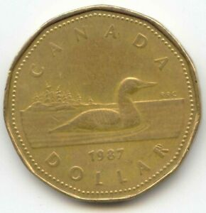 CANADA 1987 LOONIE CANADIAN ONE DOLLAR $1 EXACT COIN SHOWN