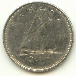 CANADA 1981 DIME CANADIAN 10 CENT PIECE 10C TEN CENTS EXACT COIN SHOWN