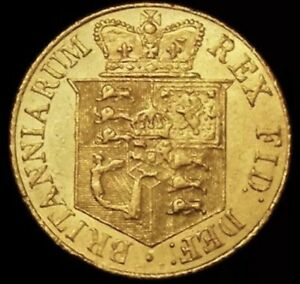 1820 GOLD HALF SOVEREIGN  GEORGE III 3.99 GRAMS OF 22 CARAT GOLD.