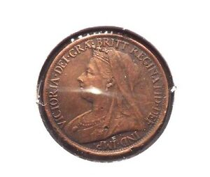 CIRCULATED 1899 BETTER GRADE 1 FARTHING UK COIN   41615